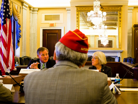 Senator Richard Burr (R-NC) and Senator Patty Murray (D-WA) at Veterans Roundtable.