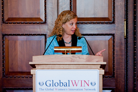 Democratic National Committee Chair Rep Debbie Wasserman Schultz speaks at a GlobalWIN luncheon event at the Library of Congress.