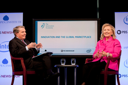 Jim Lehrer interviews Secretary of State Hillary Rodham Clinton