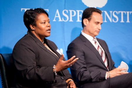 Kaya Henderson,  Chancellor of DC Public Schools interviewed by Jose Diaz-Balart-Telemundo at the 2012  Symposium on State of America | The Aspen Institute
