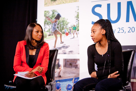Allyson Felix interviews Mo'ne Davis at the 2016 Project Play Summit | The Aspen Institute