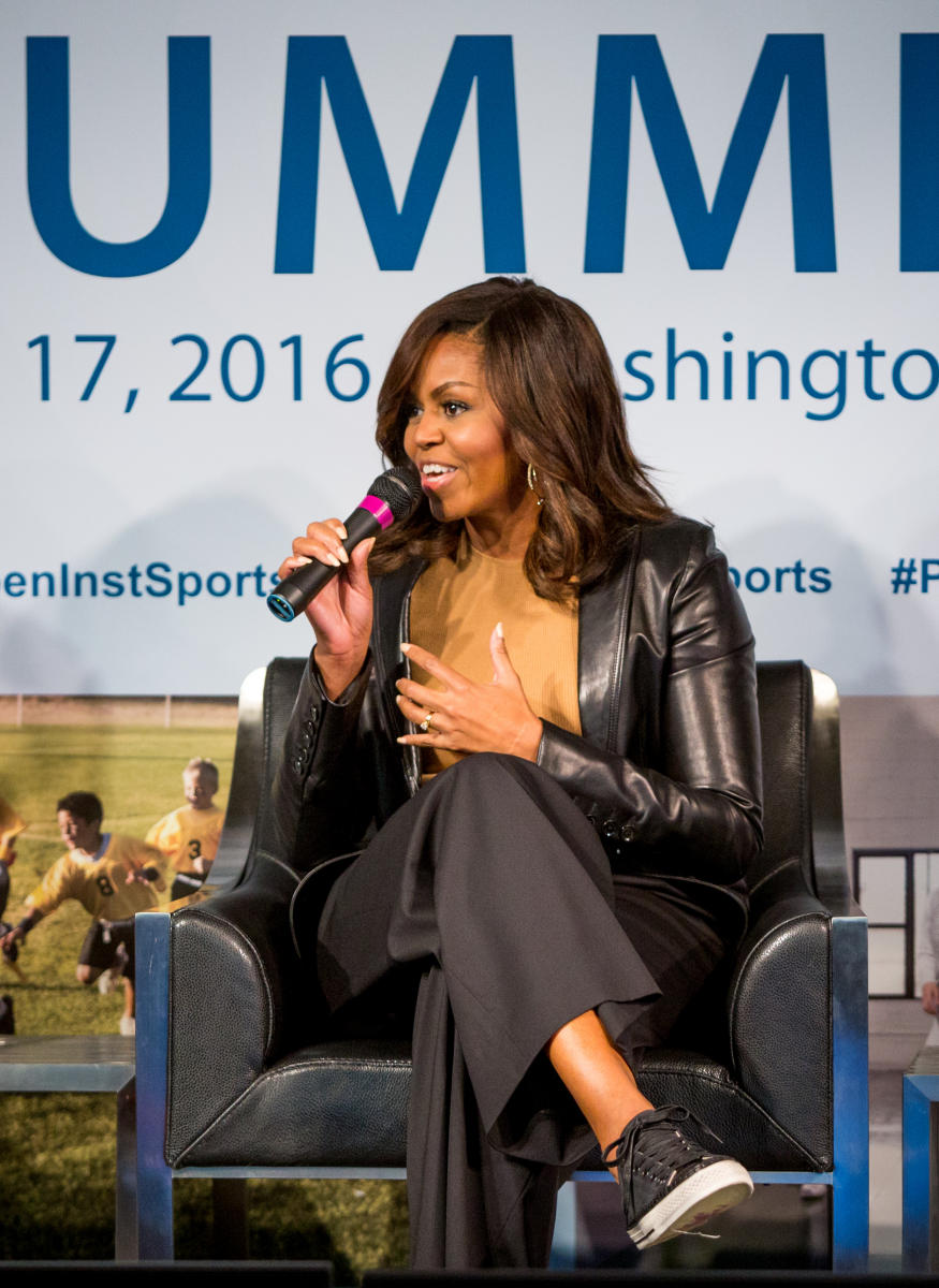 First Lady Michelle Obama Speaks At The 2016 Project Play Summit